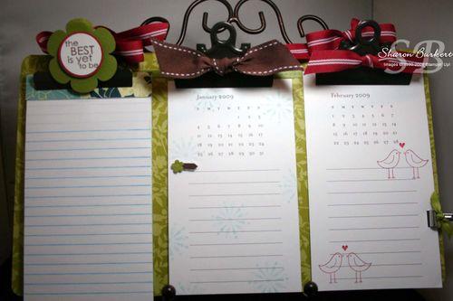 Calendar clipbaord 3